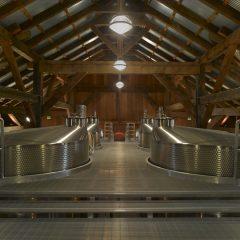 Fermentation tank room catwalk.