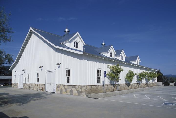 Outside fermentation barn.