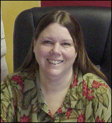 Laurie Schefer works in the Hydronic Department office assisting with project management