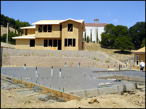 foundation cement for a custom home