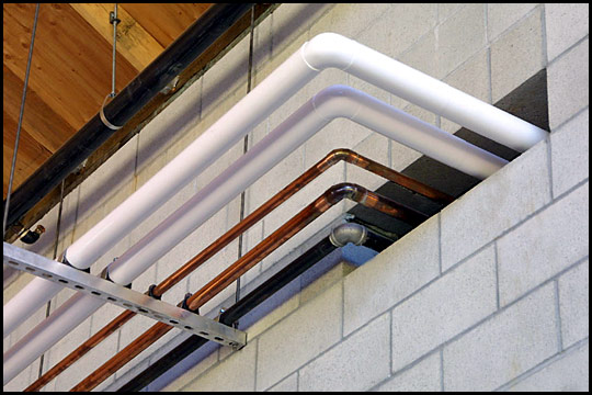 Dehlinger Winery Plumbing Pipes