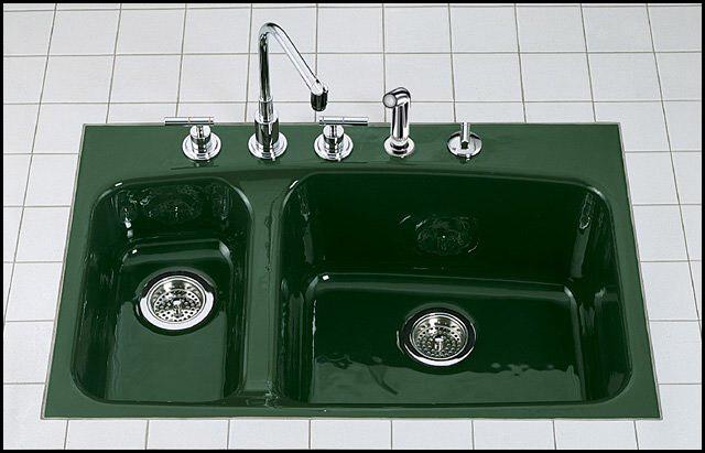 kohler sink green