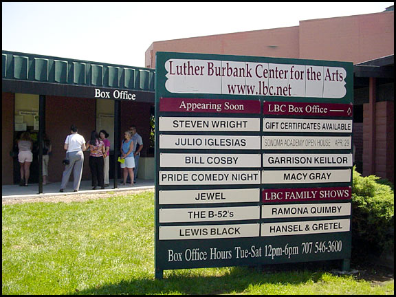 Luther Burbank Arts signage