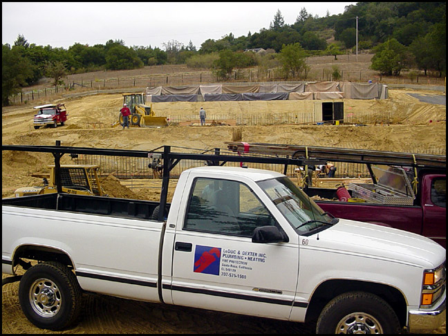 new winery foundation construction