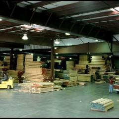 lumber storage warehouse