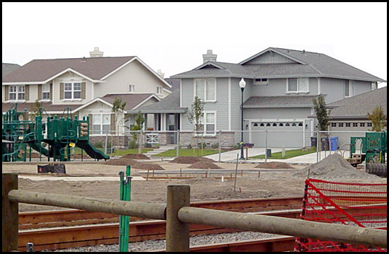 new homes with playground