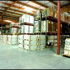 warehouse supplies on rafters
