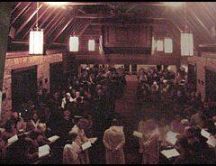 Interior of original Grace Episcopal church.