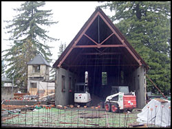 Back view of the Grace Episcopal church remodel.