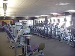inside the newly opened anytime fitness