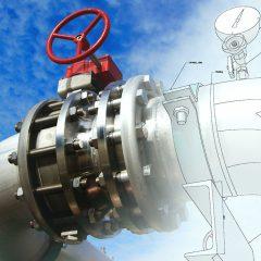 Commercial plumbing valve schematic.