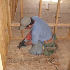 Construction crew hard at work.