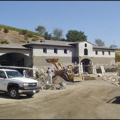 Blankiet estate exterior stonework.