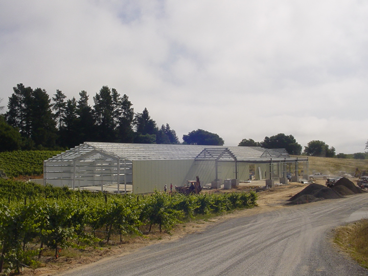 Merry Edwards Winery, situated in the Coopersmith Pinot Noir vineyard near Graton.