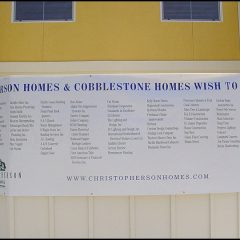 List of contributors to HomeAid apartment complex building project.