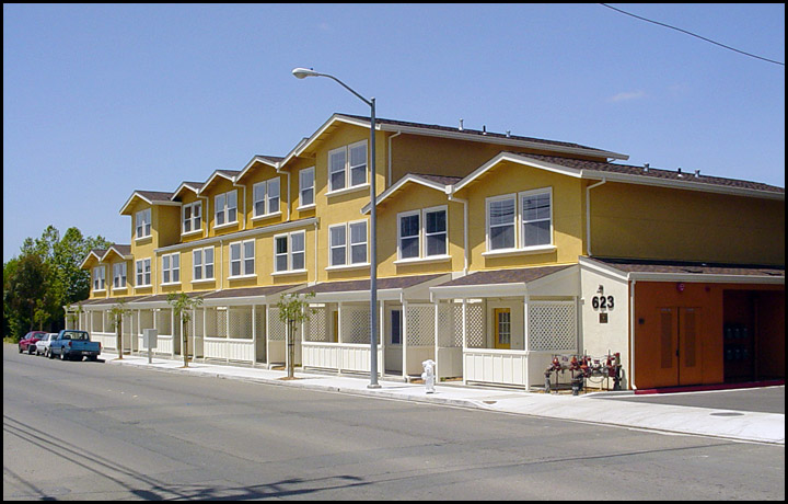 Street view of HomeAid apartment complex project.