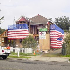 Front of home under construction