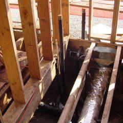 Under floor plumbing and ventilation.